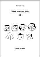 10,000 Random Rolls - d6