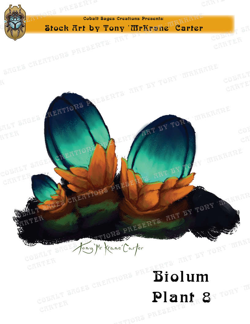 CSC Stock Art Presents: Bioluminescent Plant 8