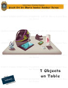CSC Stock Art Presents: Seven Objects on Table