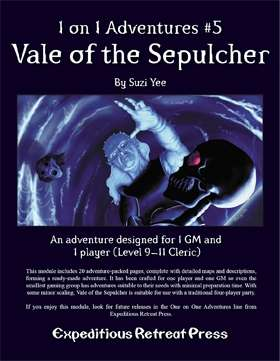 Cover of 1 on 1 Adventures #5: Vale of the Sepulcher
