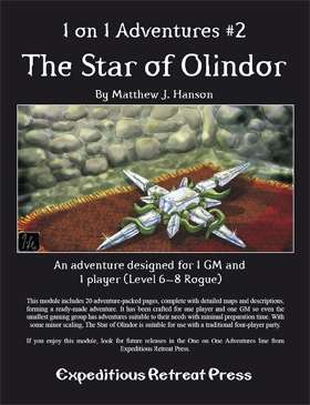Cover of 1 on 1 Adventures #2: The Star of Olindor