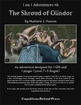 Cover of 1 on 1 Adventures #6: The Shroud of Olindor
