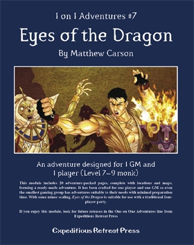 Cover of 1 on 1 Adventures #7: Eyes of the Dragon