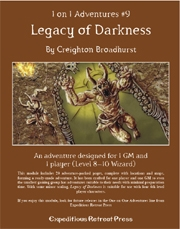 Cover of 1 on 1 Adventures #9: Legacy of Darkness