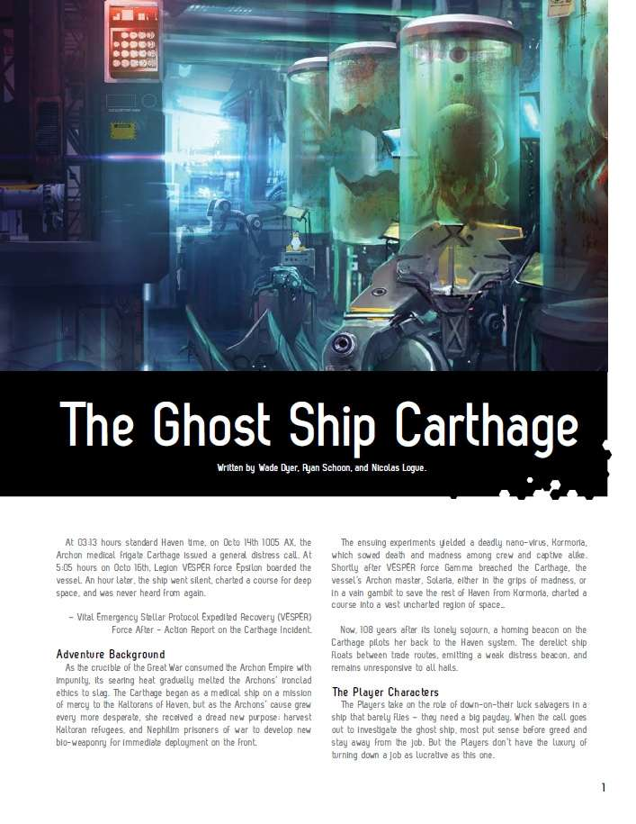 Fragged Empire Adventure - The Ghost Ship Carthage
