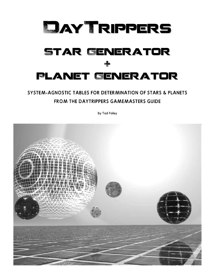 DayTrippers Planet Generator