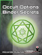 Occult Options 1 — Binder Secrets