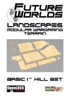 "Future Worlds Landscapes:  Basic 1""Hill Set"