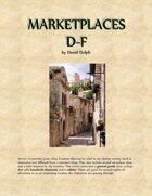 Marketplaces D-F