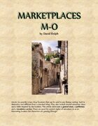 Marketplaces M-O