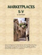 Marketplaces S-V