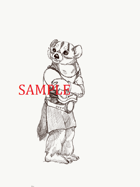 Badger - Humanoid: Stock Art