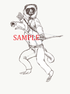 Lemur - Humanoid: Stock Art