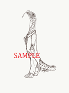 Monitor Lizard - Humanoid: Stock Art