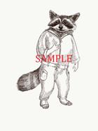 Raccoon - Humanoid: Stock Art