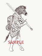 Zebra - Humanoid: Stock Art