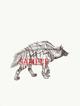 Hyena w/backpack: Stock Art