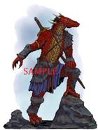 Dragonborn - Barbarian: Stock Art