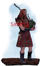 Bagpiper - Bard: Stock Art