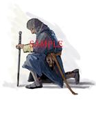 Kneeling w/Sword: Stock Art
