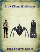 Drow 28mm  Miniatures