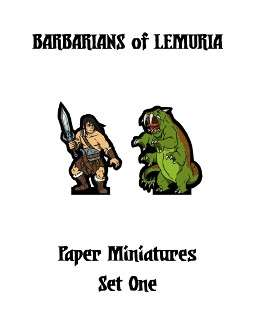 Barbarians of Lemuria Paper Miniatures Set One