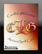 Blank Arcane Spell Cards