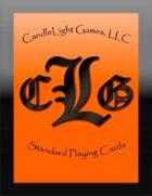 CandleLight Games Poker Cards (Orange)