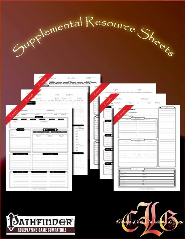 CandleLight Games Supplemental Sheet