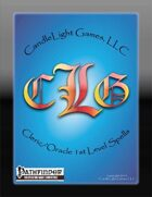 Cleric/Oracle 1st Level Spell Cards