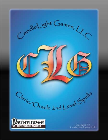 Cleric/Oracle 2nd Level Spell Cards