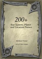 200+ Star System, Planet and Location Names