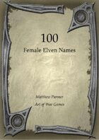 100 Female Elven Names