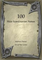 100 Male Scandinavian Names