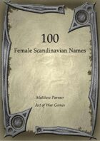 100 Female Scandinavian Names