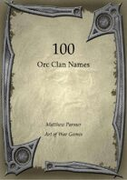 100 Orc Clan Names