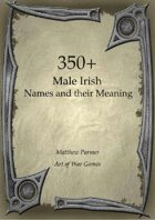 350+  Male Irish Names and Their Meaning
