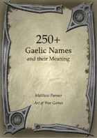 250+  Gaelic Names and Their Meaning
