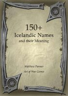 150+  Icelandic Names and Their Meaning