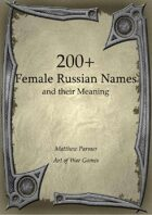 200+  Female Russian Names and Their Meaning