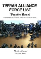 The Great Unification War Campaign: Operation Ramrod: Terran Forces: Compatible with Gruntz 15mm, FUBAR and BOHICA