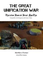 The Great Unification War Campaign: Operation Ramrod: Kreul SpecOps: Compatible with Stargrunt II and Gruntz 15mm