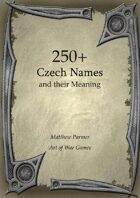 250+  Czech Names and Their Meaning