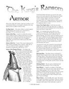 The King's Ransom: Armor