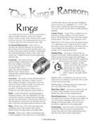 The King's Ransom: Rings