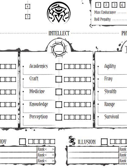 awaken - character sheet