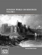 Dungeon World GM Resources Volume 1