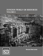 Dungeon World GM Resources Volume 3