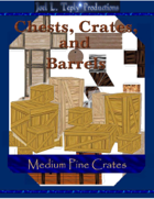 Chests, Crates, and Barrels Collection: Medium Pine Crates