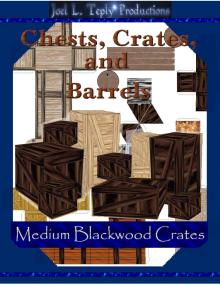 Chests, Crates, and Barrels Collection: Medium Blackwood Crates